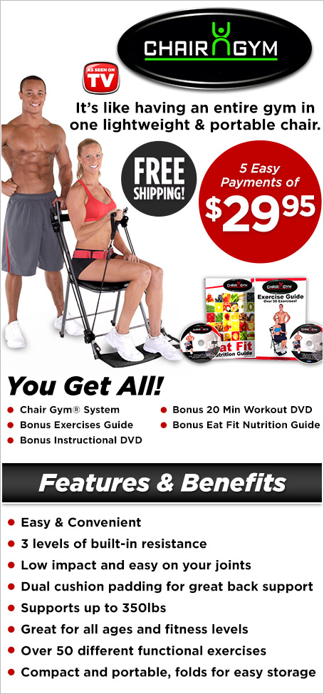 chair gym - easy & convenient total body workout! | customer