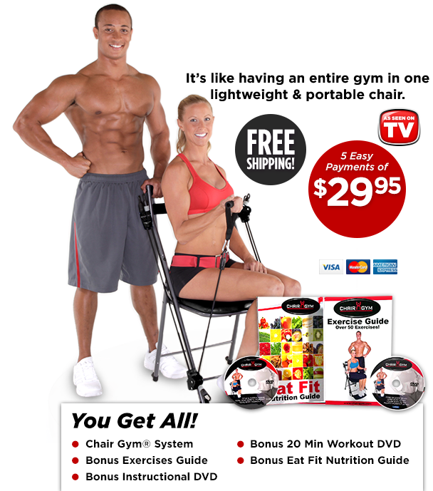 5 Easy Payments of $29.95  sc 1 th 239 & Chair Gym - Easy and Convenient Total Body Workout! - Official ...